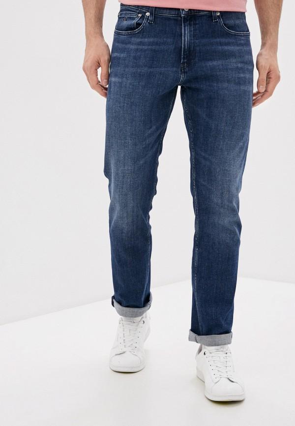 мужские прямые джинсы calvin klein, синие
