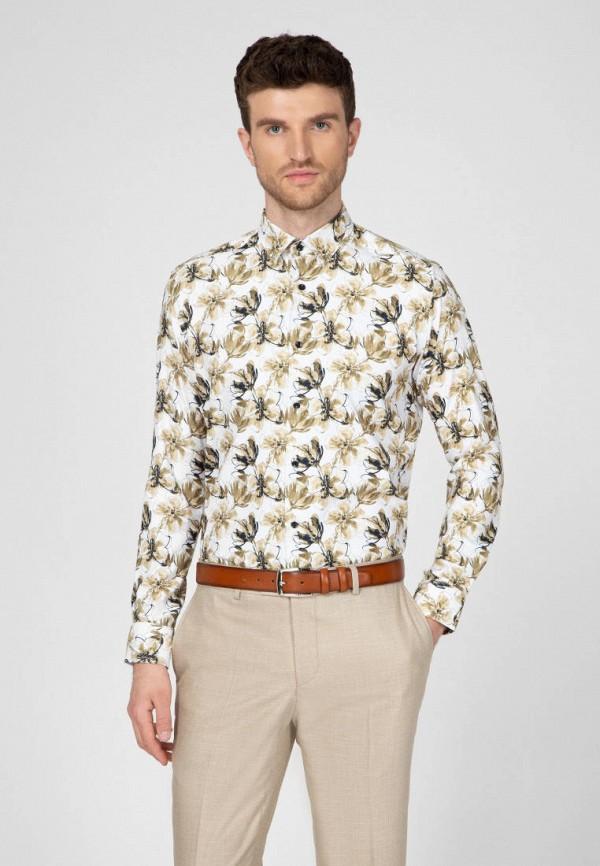 мужская рубашка с длинным рукавом navi, бежевая
