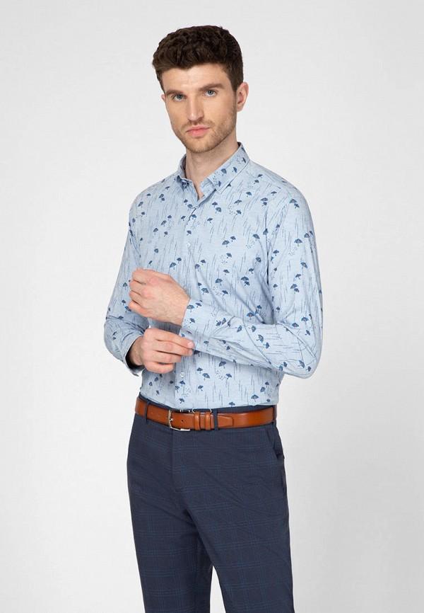 мужская рубашка с длинным рукавом navi, голубая