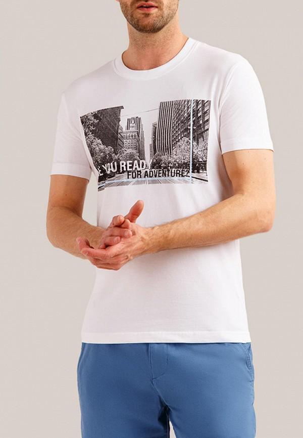 мужская футболка с коротким рукавом finn flare, белая