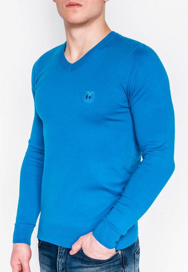 мужской пуловер ombre, голубой