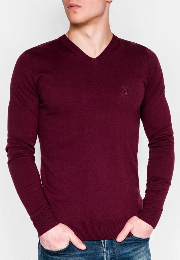 мужской пуловер ombre, бордовый