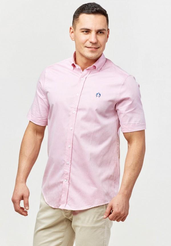 мужская рубашка с коротким рукавом campione, розовая
