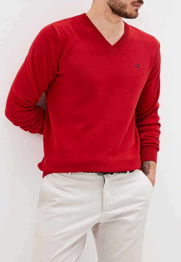 """мужской пуловер """"el caballo"""" sevilla 1892, красный"""