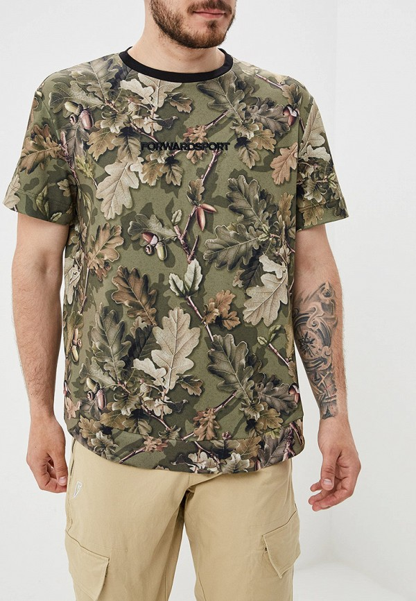 мужская футболка с коротким рукавом forward, хаки