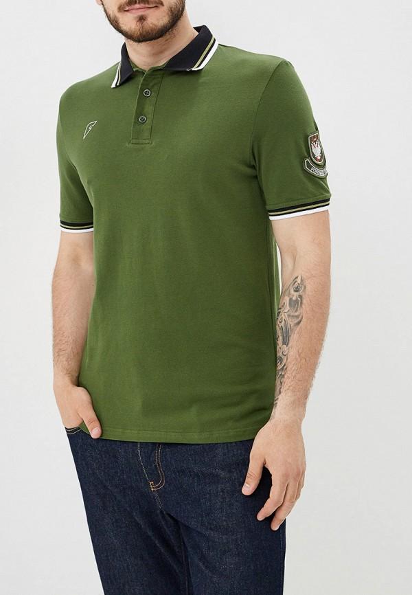мужское поло forward, зеленое