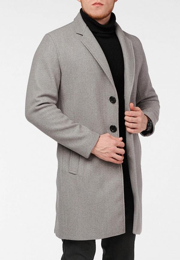 мужское пальто react, серое