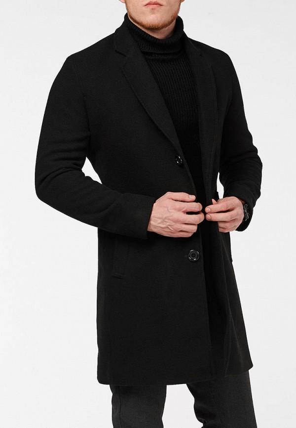 мужское пальто react, черное