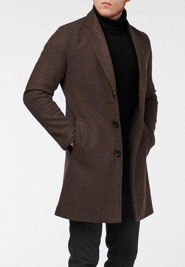 мужское пальто react, коричневое