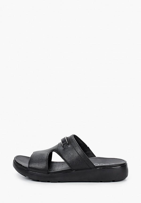 мужские сандалии ecco, черные