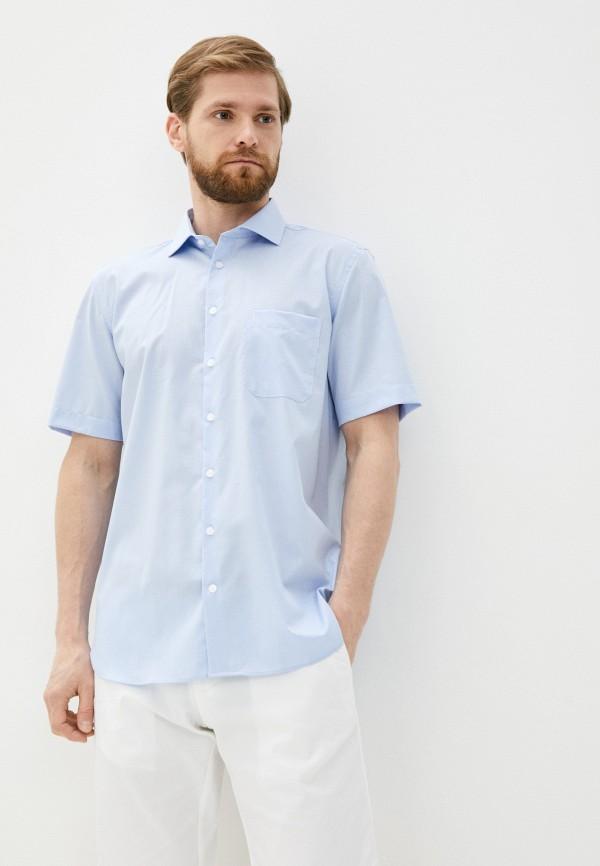 мужская рубашка с коротким рукавом henderson, голубая