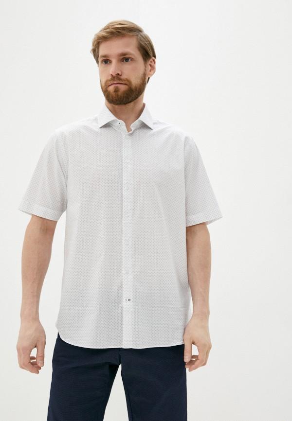 мужская рубашка с коротким рукавом henderson, белая