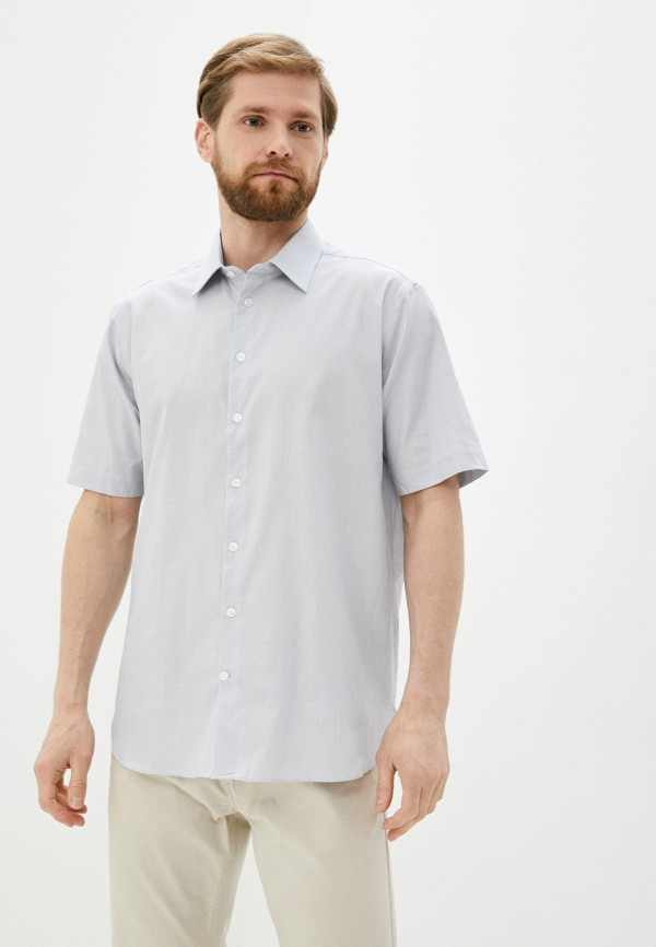 мужская рубашка с коротким рукавом henderson, серая