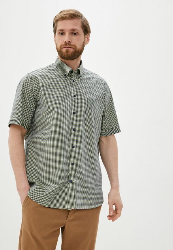 мужская рубашка с коротким рукавом henderson, зеленая
