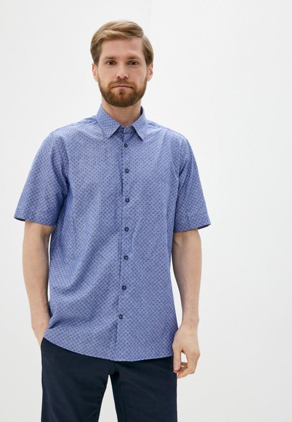 мужская рубашка с коротким рукавом henderson, синяя