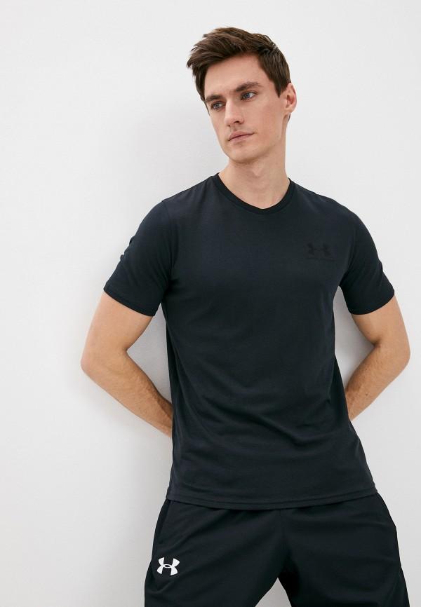 мужская футболка с коротким рукавом under armour, черная