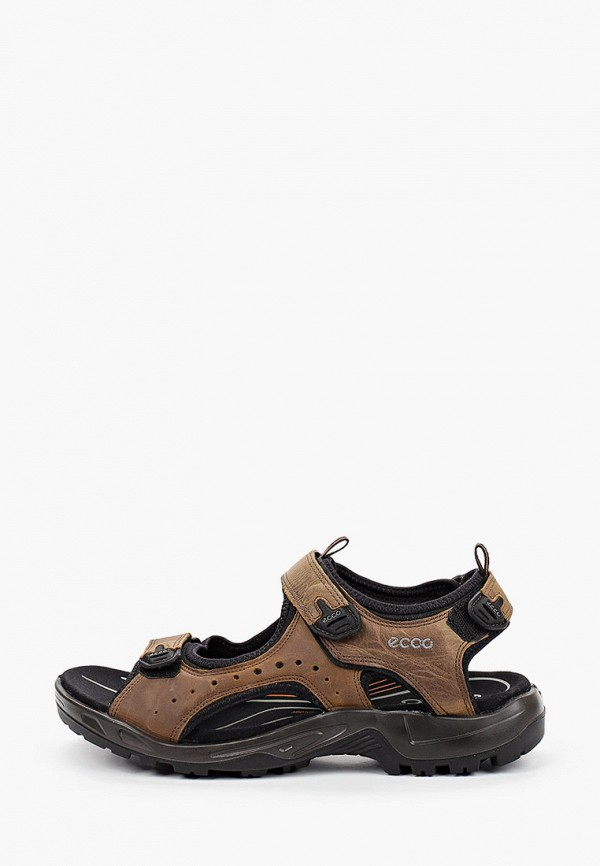 мужские сандалии ecco, коричневые