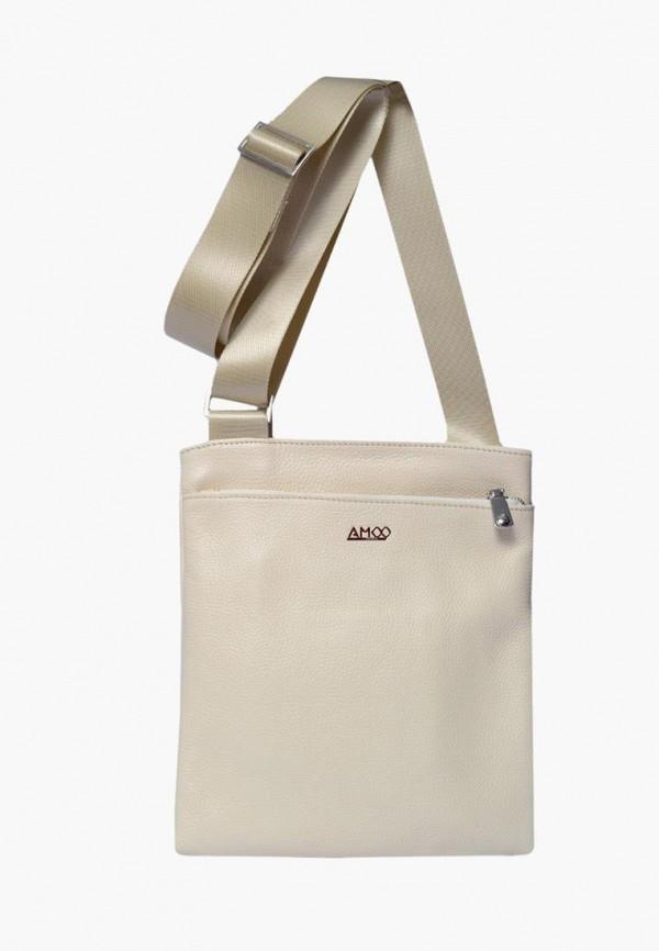 мужская сумка amoo, бежевая