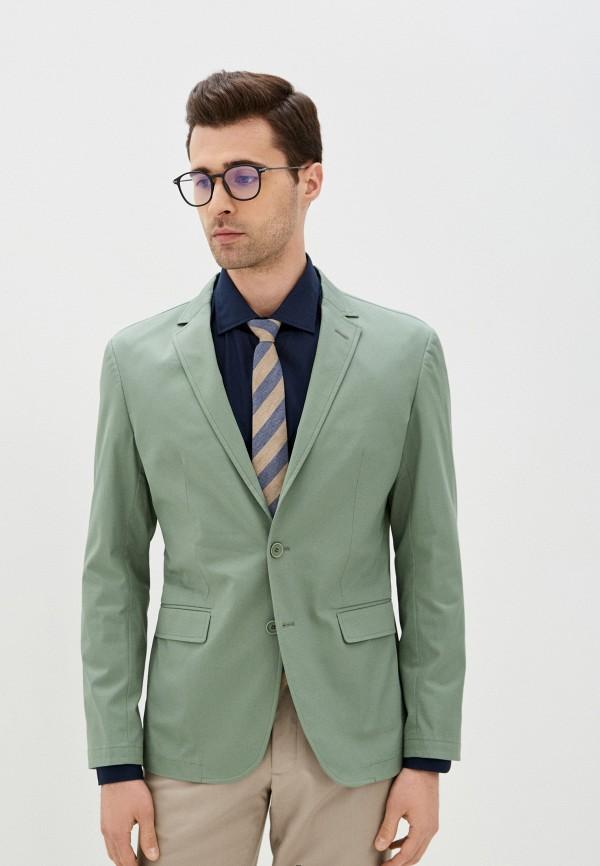 мужской пиджак bazioni, зеленый