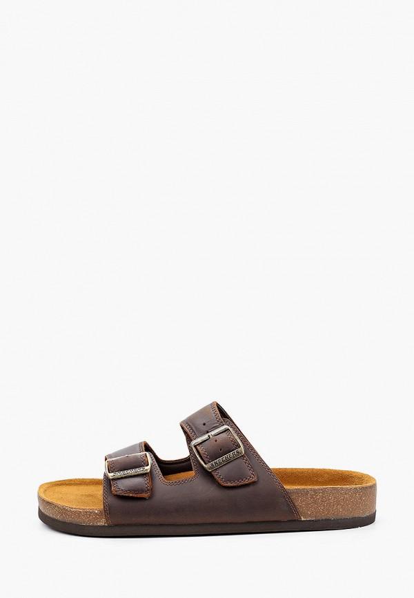 мужские сандалии skechers, коричневые