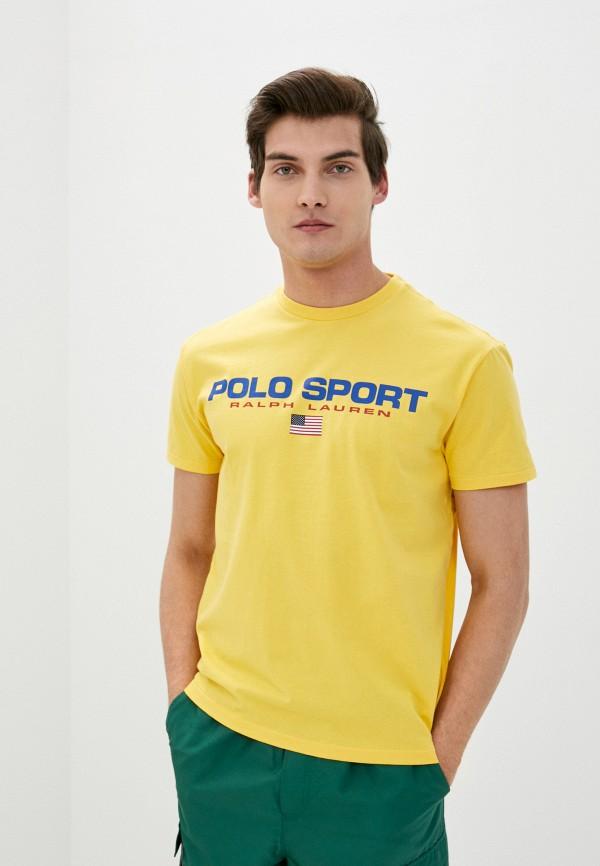 мужская футболка с коротким рукавом polo ralph lauren, желтая
