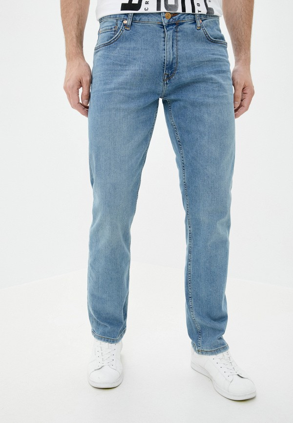 мужские прямые джинсы colin's, голубые