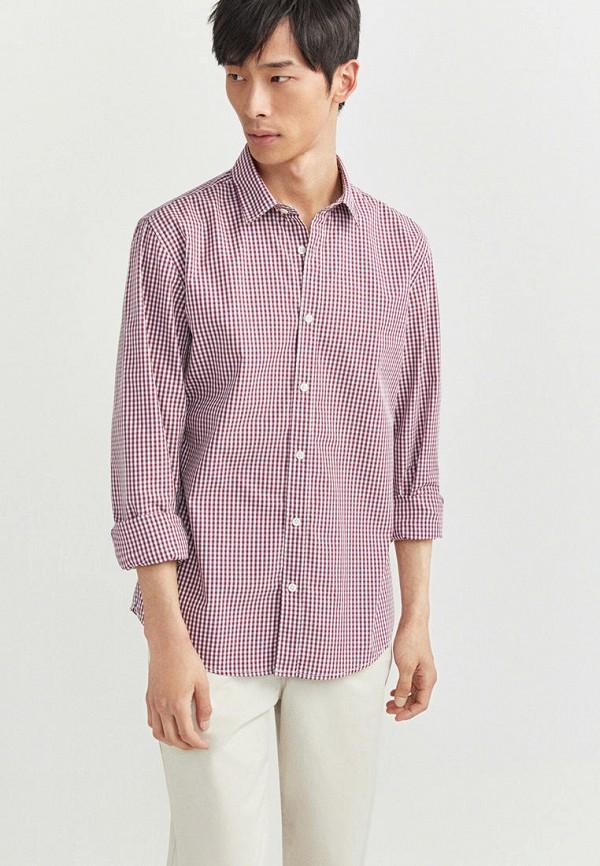 мужская рубашка с длинным рукавом springfield, бордовая