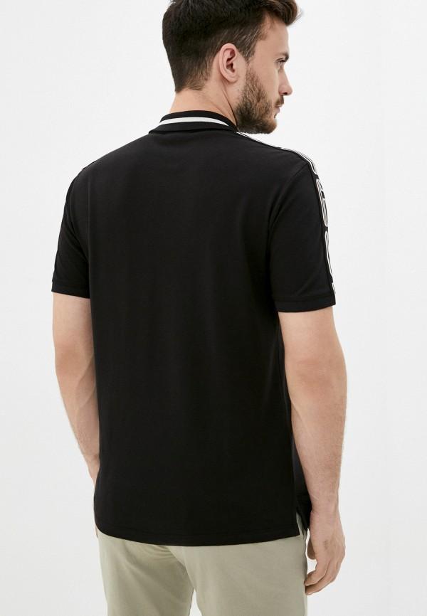 Поло Hugo цвет черный  Фото 3