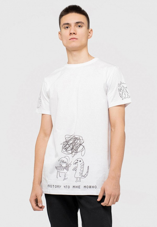мужская футболка с коротким рукавом dnk, белая