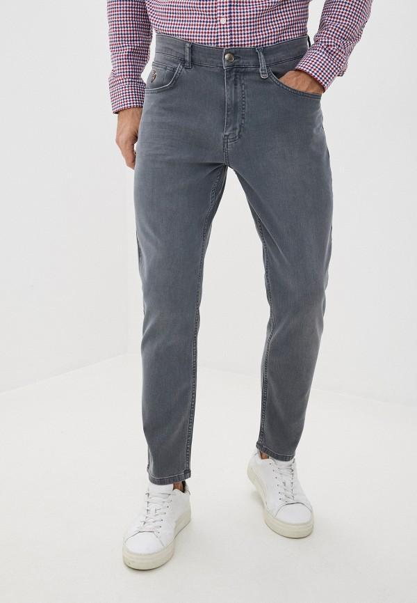 мужские зауженные джинсы u.s. polo assn, серые