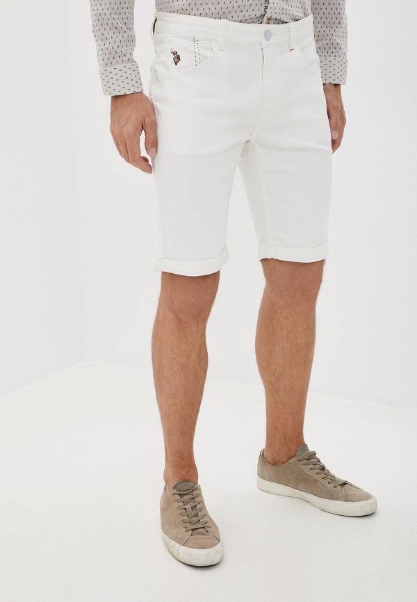 мужские джинсовые шорты u.s. polo assn, белые