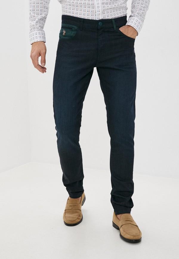 мужские зауженные джинсы u.s. polo assn, синие