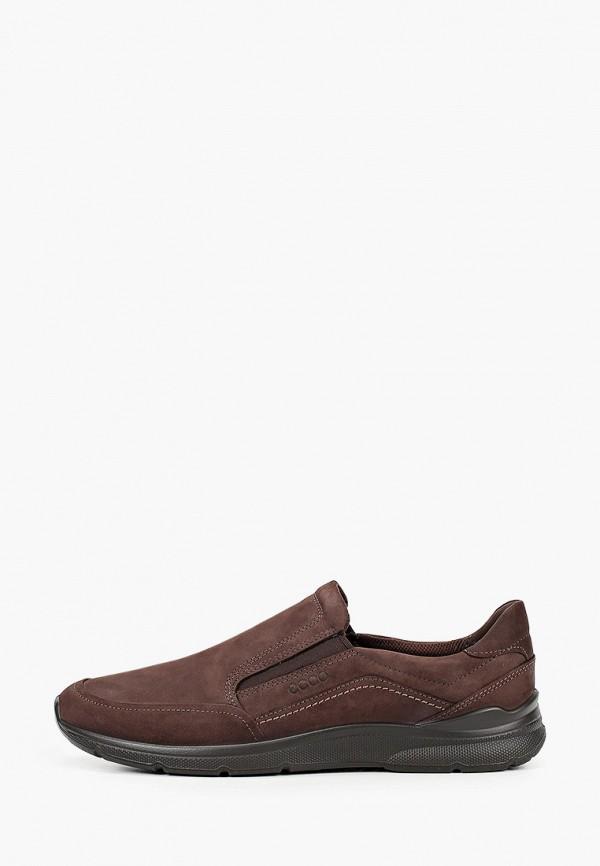 мужские низкие ботинки ecco, коричневые