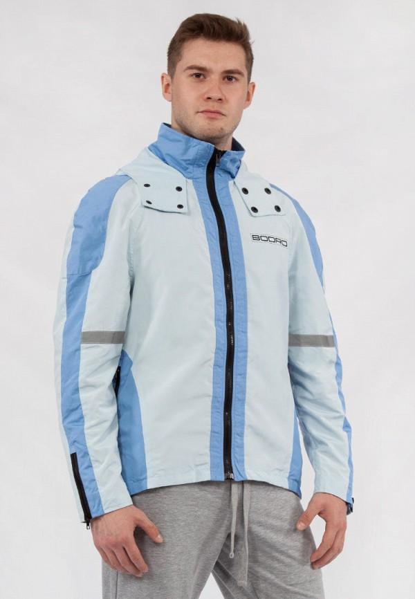 мужская ветровка bodro design, голубая