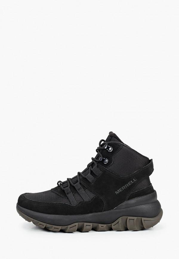 мужские высокие кроссовки merrell, черные