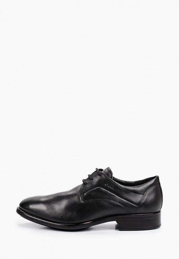 мужские туфли-дерби ecco, черные