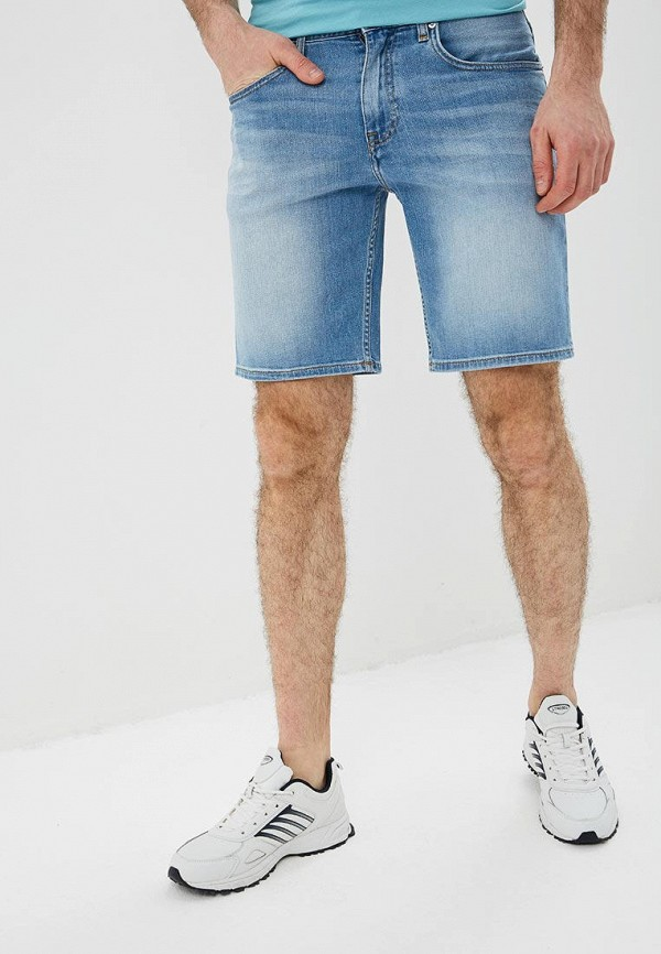 мужские джинсовые шорты tommy hilfiger, голубые