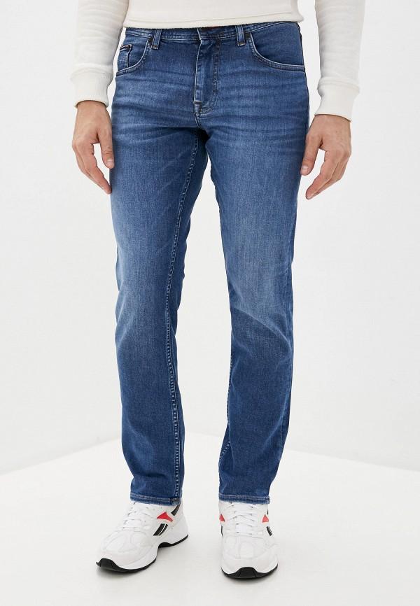 мужские зауженные джинсы tommy hilfiger, голубые