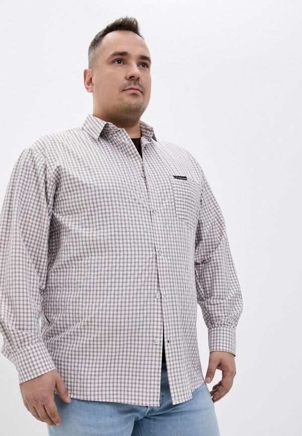 мужская рубашка с длинным рукавом armaron, бежевая