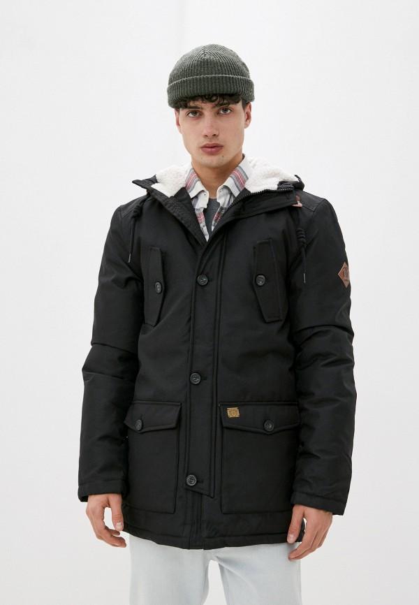 мужская утепленные куртка indicode jeans, черная