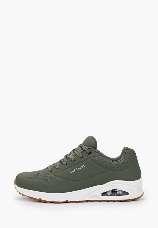 мужские низкие кроссовки skechers, зеленые