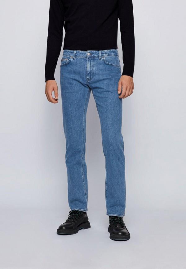 мужские прямые джинсы boss, голубые