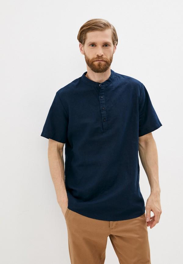мужская рубашка с коротким рукавом mark formelle, синяя