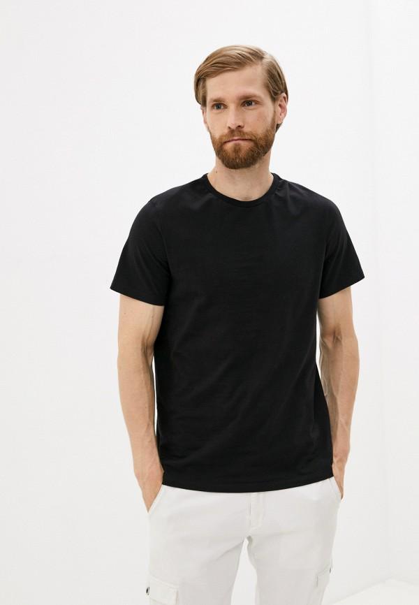 мужская футболка с коротким рукавом mark formelle, черная