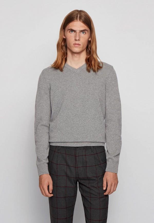 Пуловер Boss серого цвета
