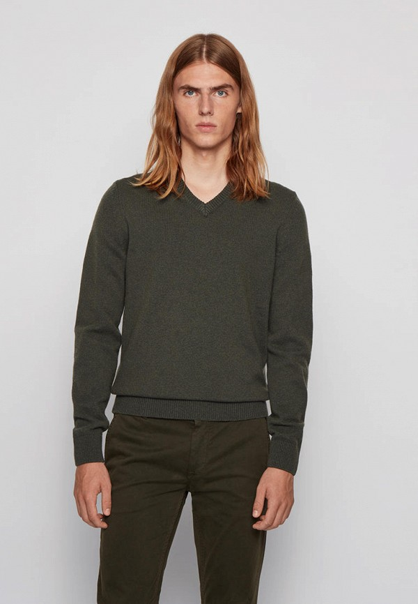 Пуловер Boss зеленого цвета