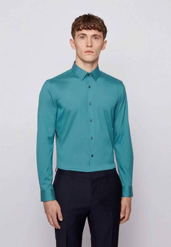 Рубашка Boss бирюзового цвета