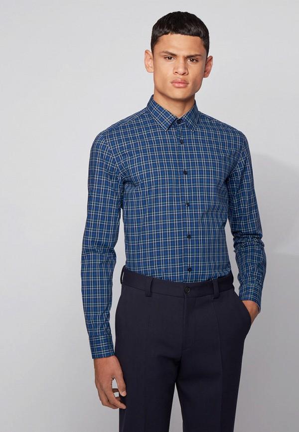 Рубашка Boss синего цвета