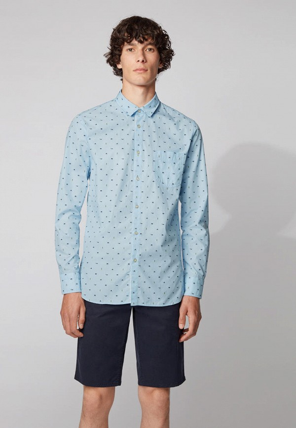 Рубашка Boss голубого цвета