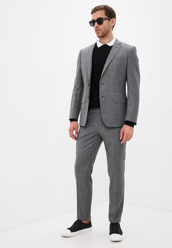 мужской классические костюм boss, серый